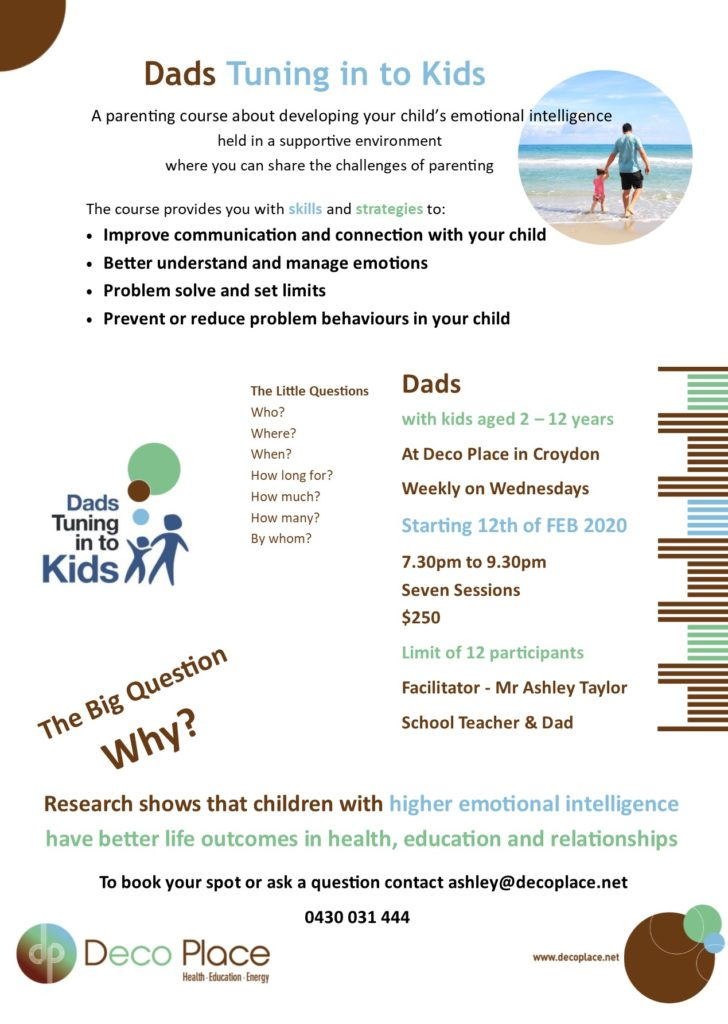 Parenting course for Dads